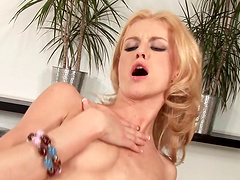 Slim chick Kate rides a hard cock like her life depends on it